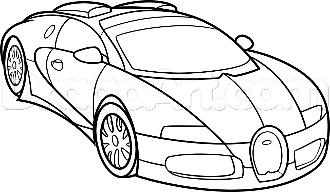 1302x756 Bugatti Veyron Drawing How To Draw A Bugatti Veyron, Stepstep