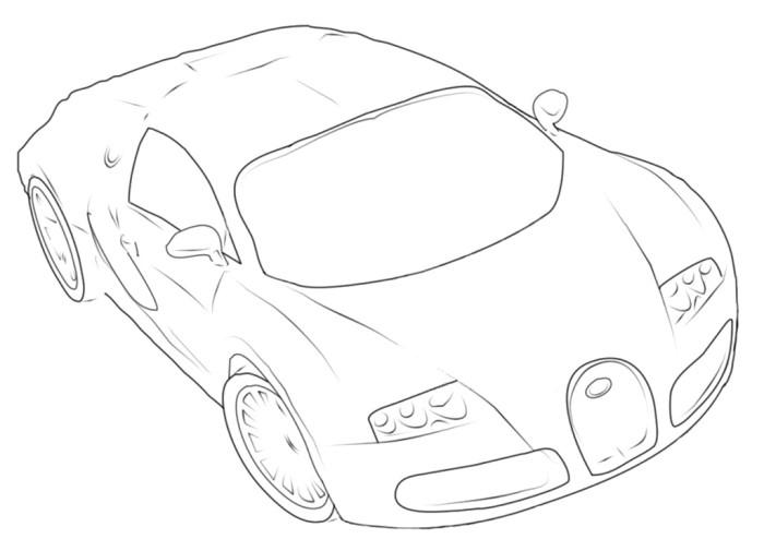 700x505 Bugatti Veyron P3 Coloring Page Bugatti Bugatti Veyron