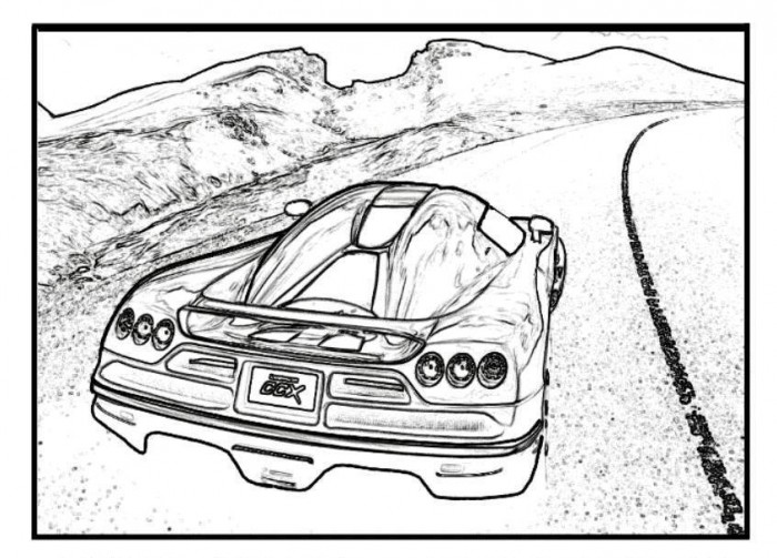 700x503 Bugatti Veyron Sports Fast Car Coloring Pages Free Online Cars