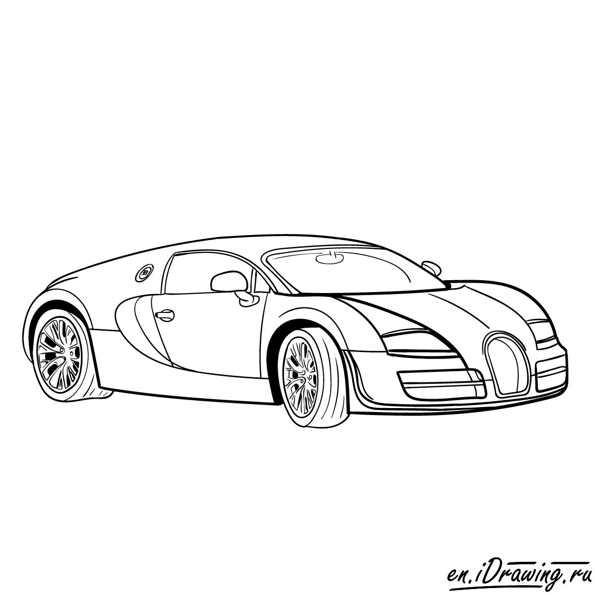 1200x1200 How To Draw Bugatti Veyron 16.4 Super Sport