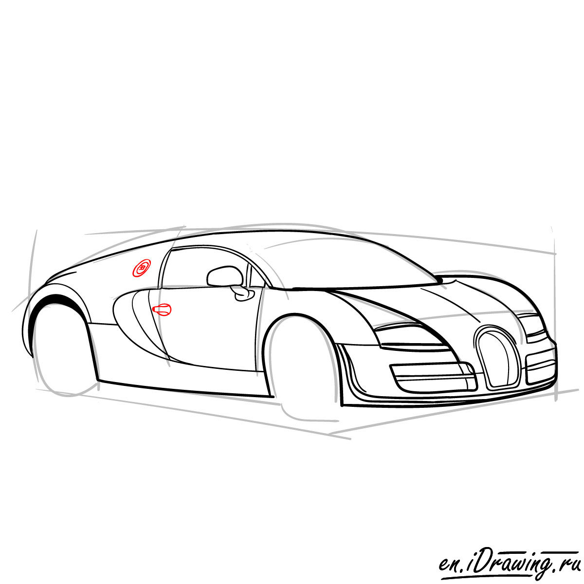 Bugatti Drawing Step By Step at GetDrawings.com | Free for personal ...