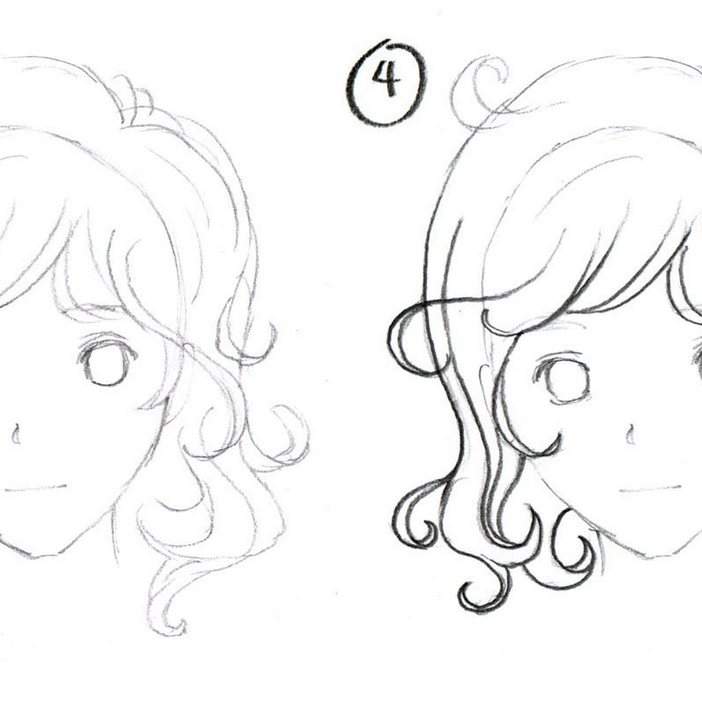 1024x1024 To Draw Anime Girl Hair Step By Step For Beginners