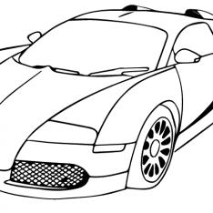 234x234 Bugatti Veyron Super Sport Coloring Pages