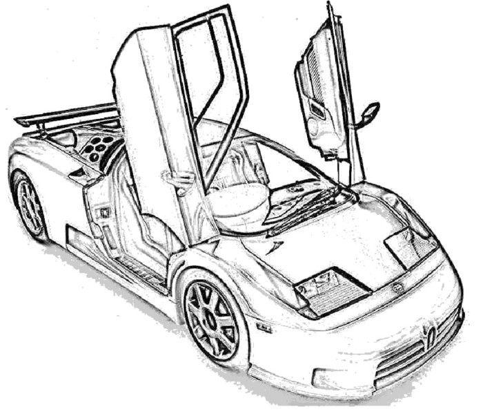 700x602 Clever Design Bugatti Coloring Page
