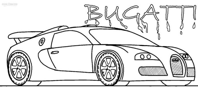 Bugatti Veyron Drawing at GetDrawings | Free download