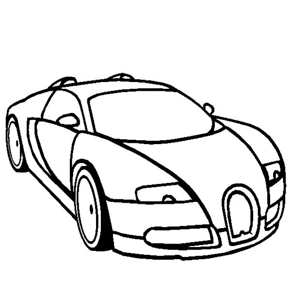 600x612 Bugatti Car Coloring Pages For Kids Best Place To Color