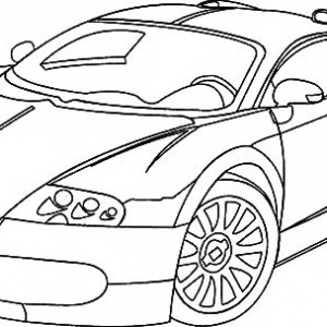300x300 Bugatti Car Veyron On The Road Coloring Pages Best Place To Color