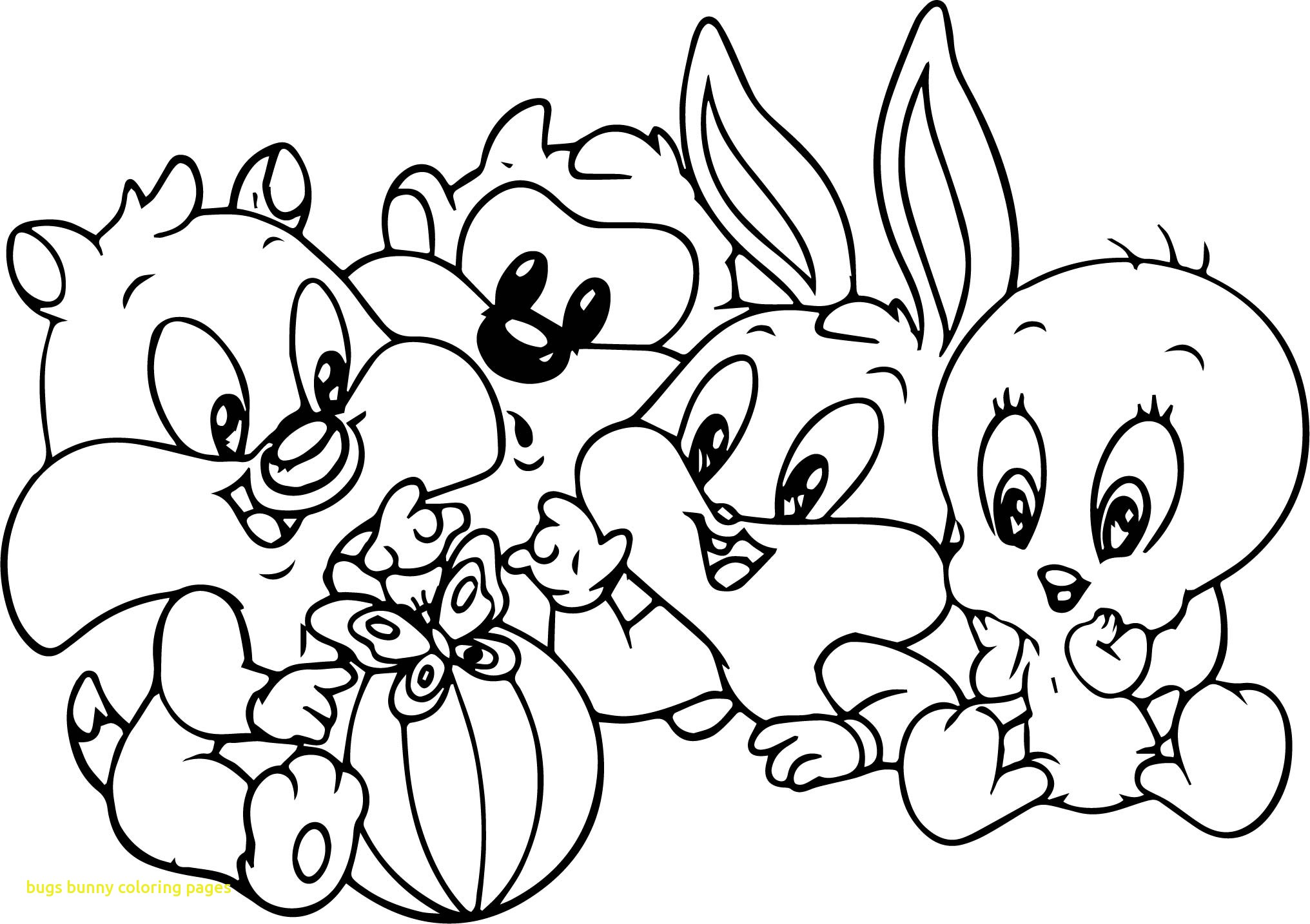 2032x1434 Bugs Bunny Coloring Pages Coloringpageforkidsco