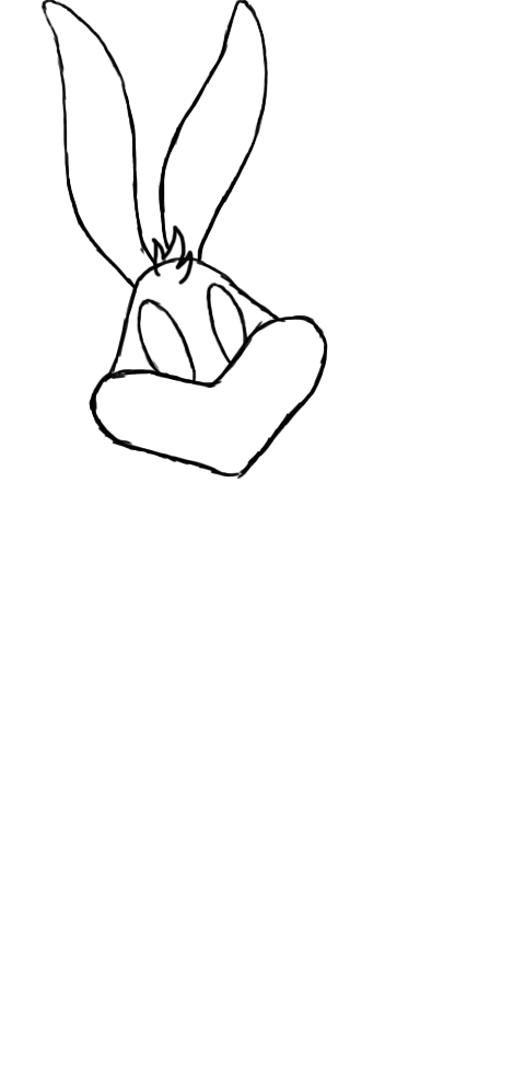 469x975 How To Draw Bugs Bunny