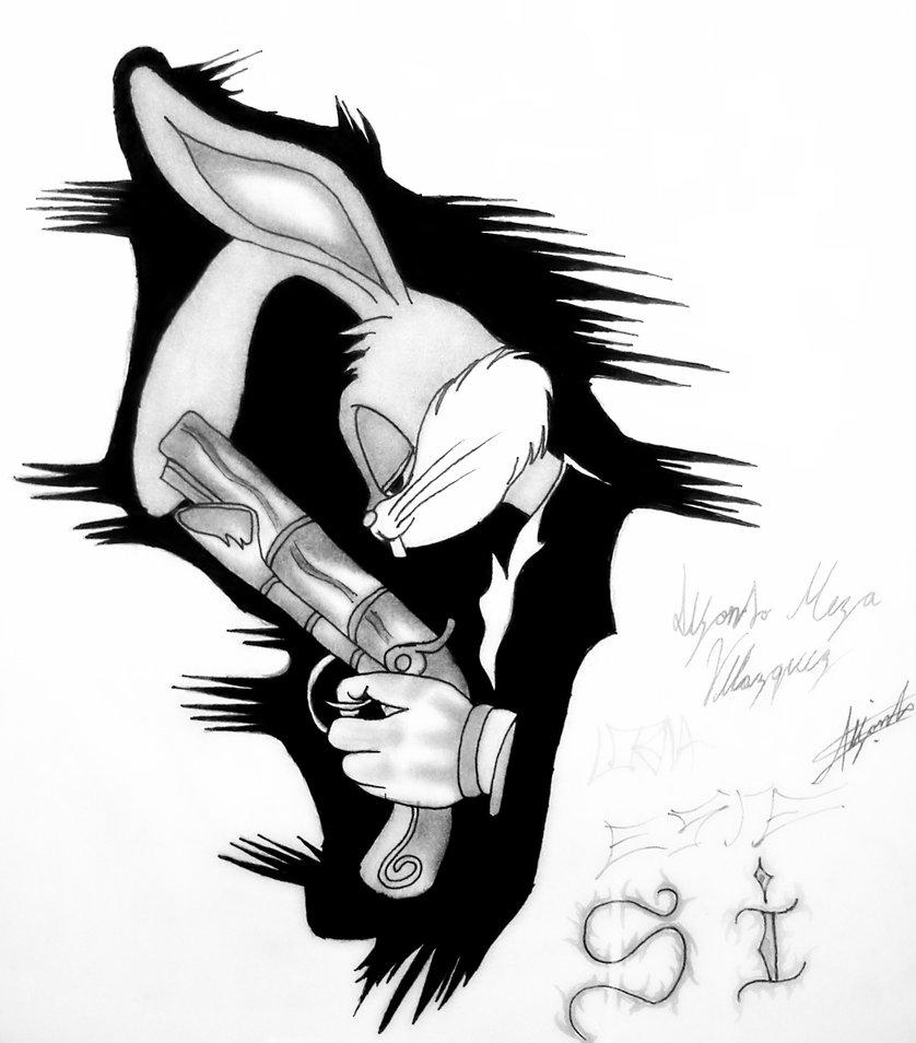 838x954 Bugs Bunny Gangster By Kenpachimeza