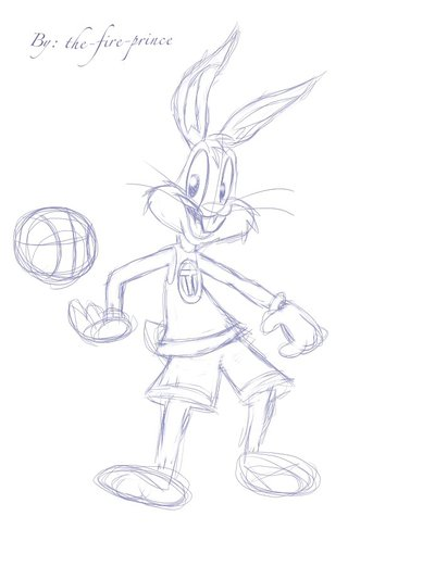 400x533 Bugs Bunny Space Jam Sketch By The Fire Prince