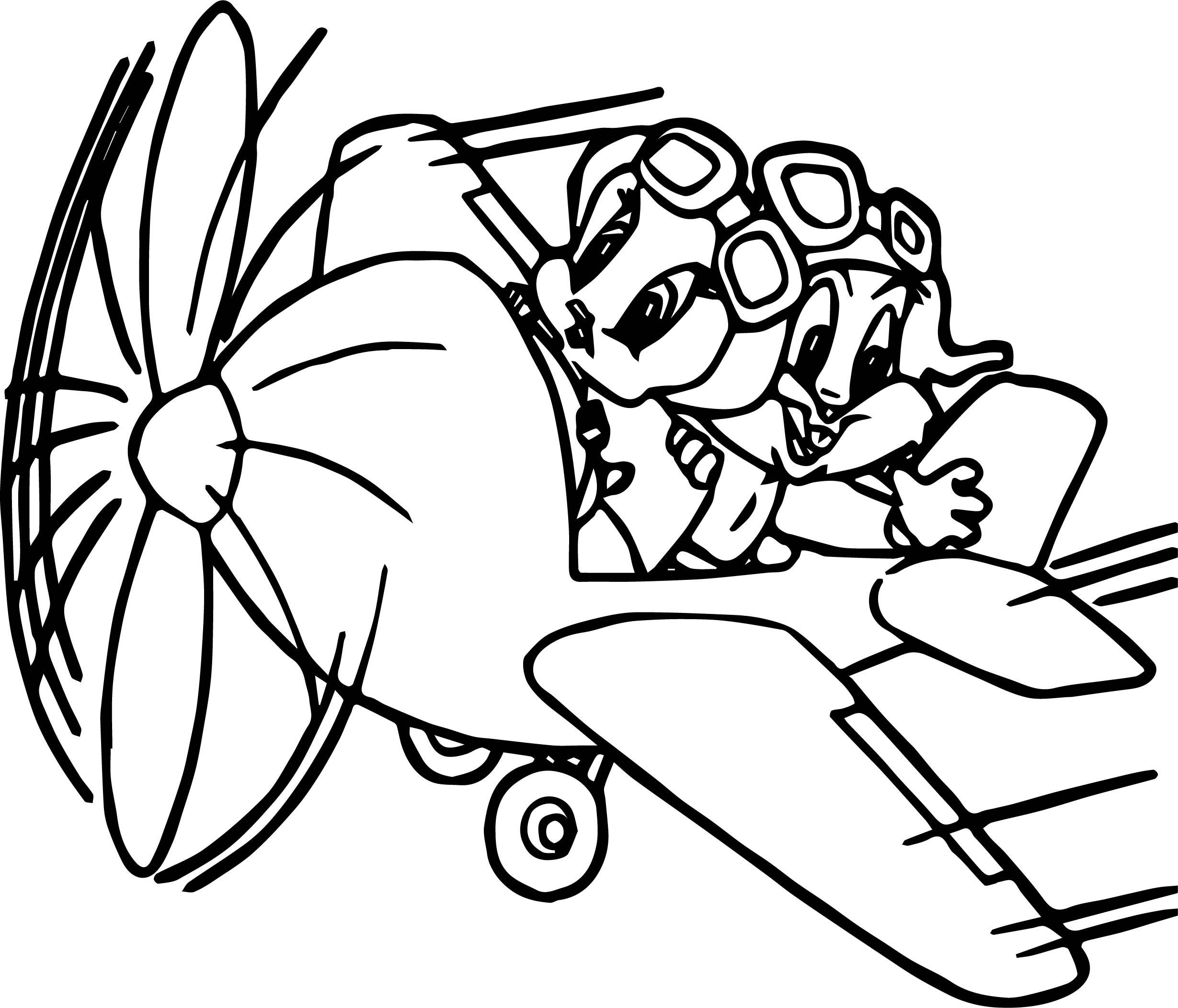 2459x2105 Warner Bros Baby Looney Tunes Bugs Bunny Tweety Plane Coloring