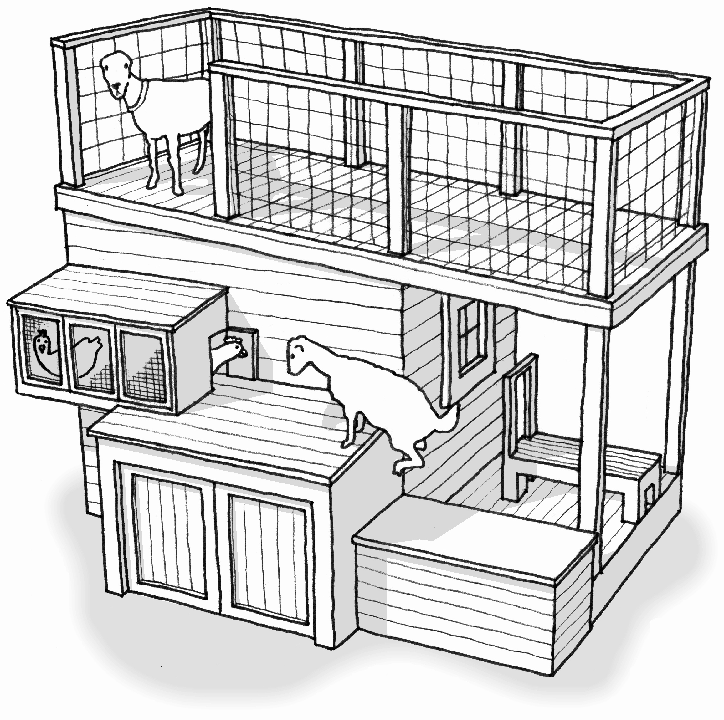 2313x2301 Uncategorized Chicken House Building Plan Perky Within Inspiring