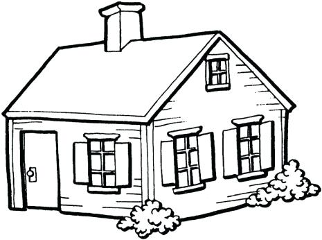 465x346 Easy House Drawing