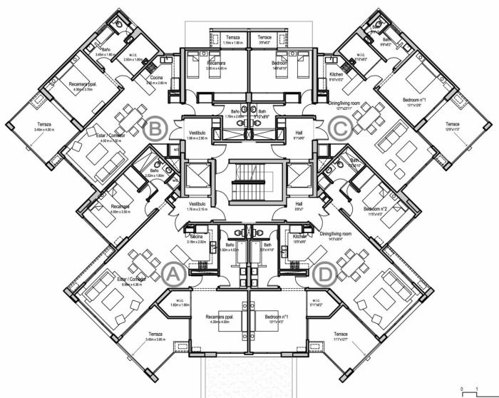 700x558 Architecture Architectural Drawing Of A Apartment Building