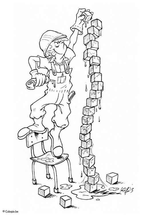 531x750 Coloring Page Playing With Building Blocks