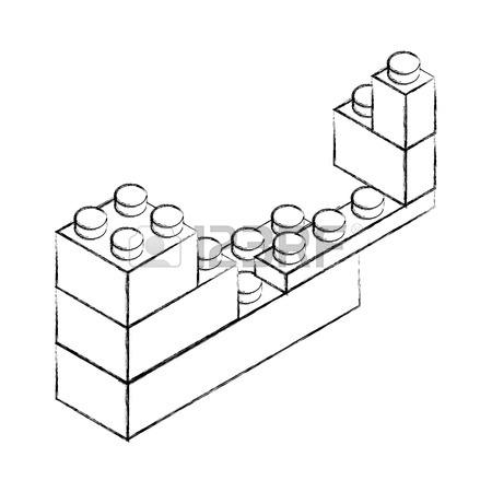 450x450 Sketch Draw Toy Building Block Bricks Vector Graphic Design