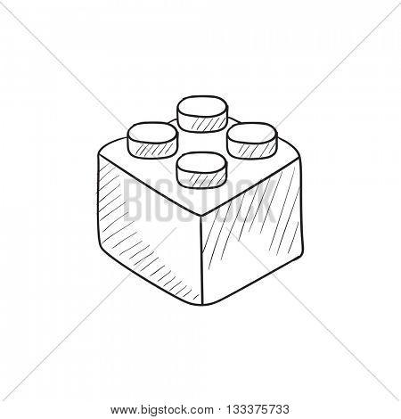 450x470 Building Block Vector Sketch Icon Vector Amp Photo Bigstock
