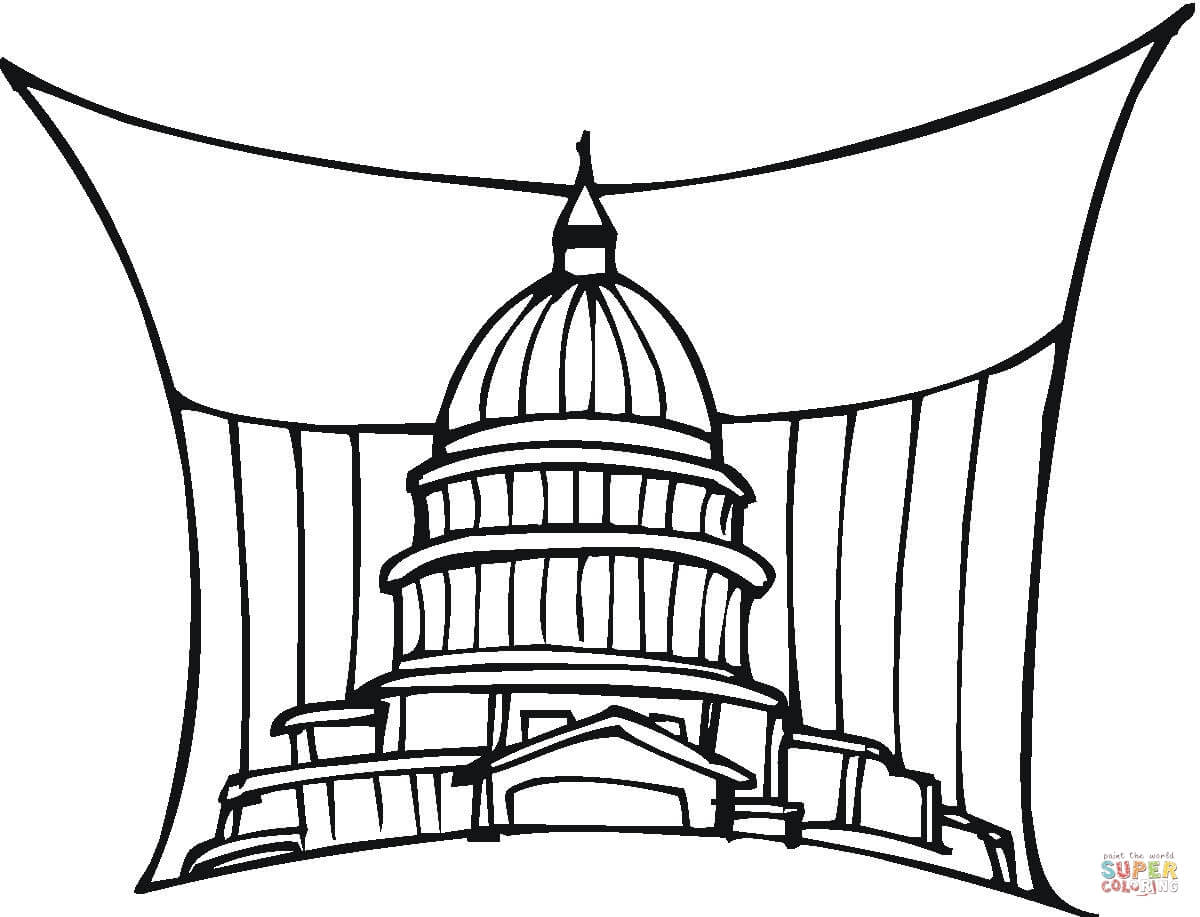 1200x917 Capitol Us Government Building In Washington Coloring Page Free