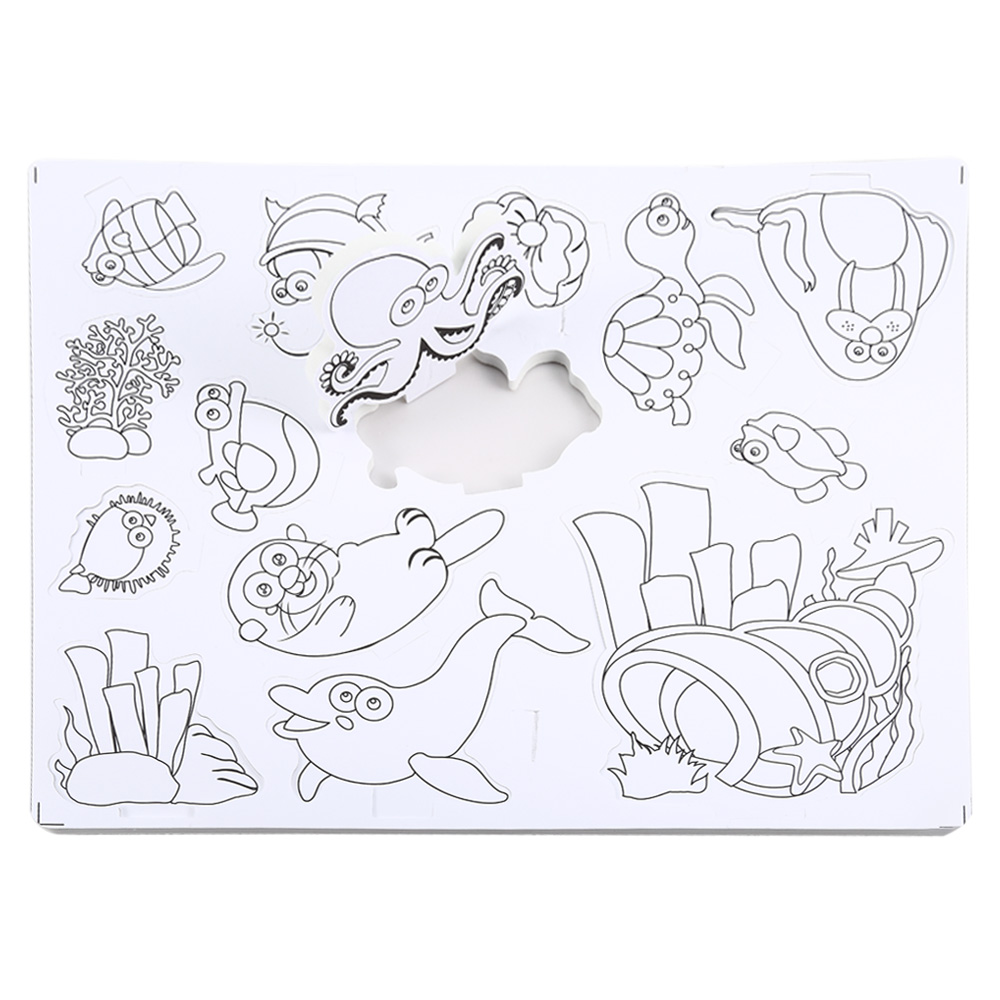 1000x1000 3d Drawing Sea Animals Puzzle Toy Set For Children Educational