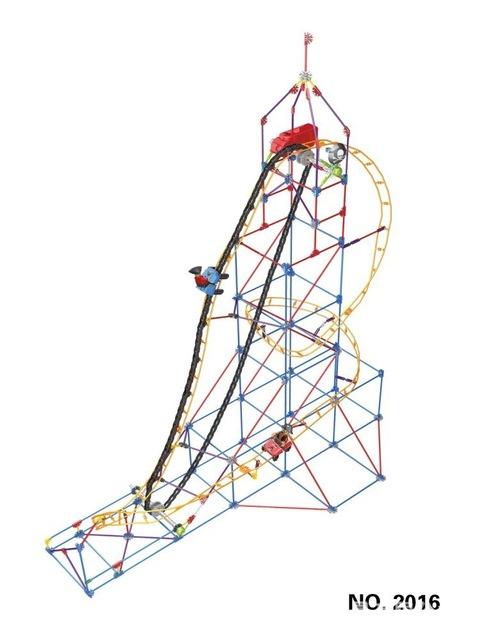 480x640 Loz Pirate Roller Coaster Model Rotatable Electric Building Block