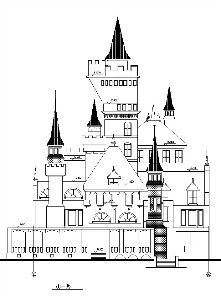 706x943 Dream Castle Cad Drawings 1 Free Cad Blocks Amp Drawings Download
