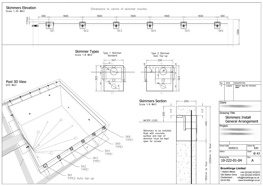 Building cad drawing at free for for Pool design and engineering