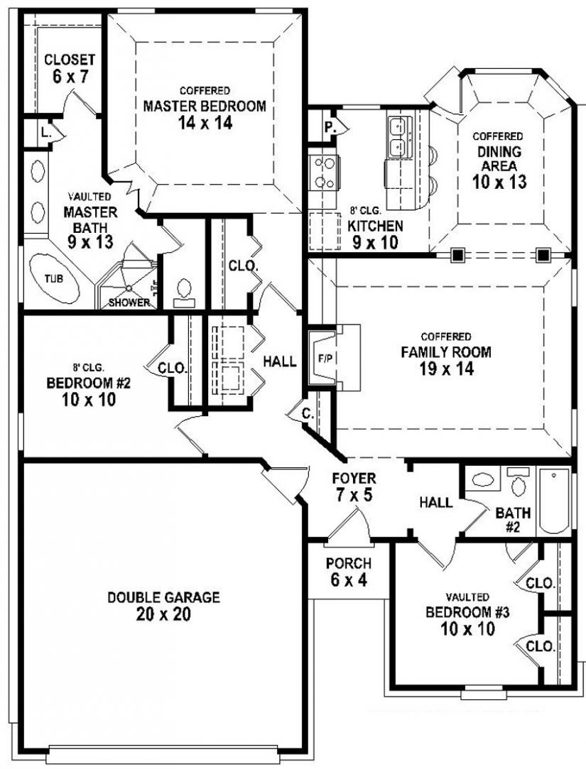 Building Plan Drawing at GetDrawings – Small House Floor Plans With Garage