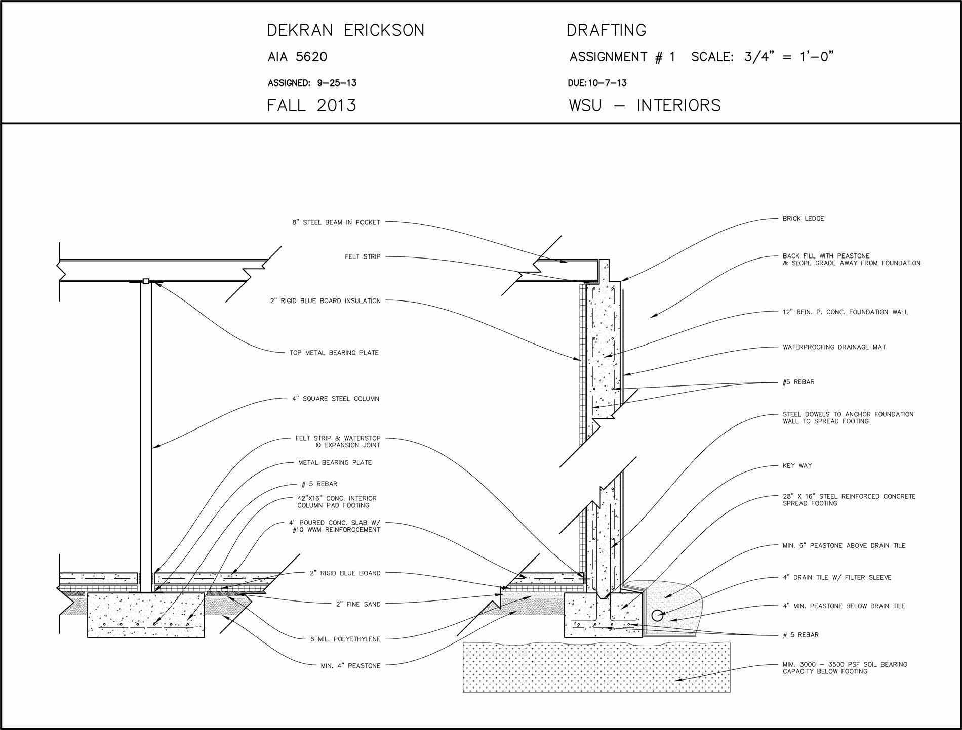 1900x1443 Roof Drawing For Aia At Wayne State Univ My Detail S Detail Flat