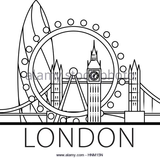 547x540 London Skyline Silhouette Cut Out Stock Images Amp Pictures