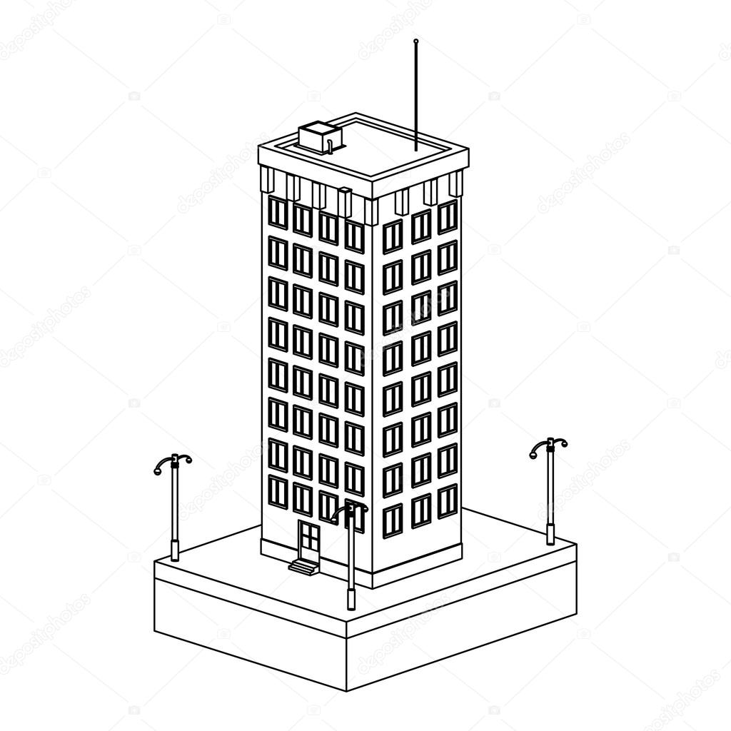 1024x1024 Tall Building Icon Stock Vector Jemastock