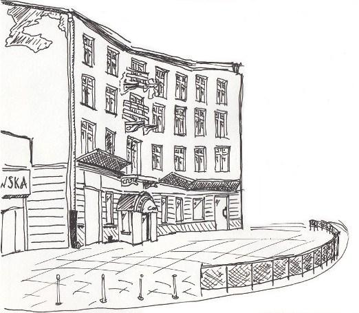 522x455 Drawing Buildings Mateusz Hajnysz Sketchblog