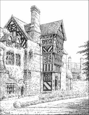 310x400 Ludlow, The Readers House(1), Shropshire., Pen Drawing