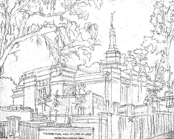 720x575 Melbourne Au Lds Temple Sketch