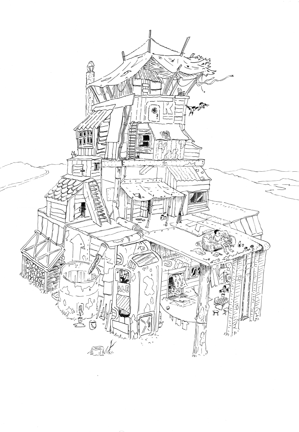 1000x1442 Pin By M On Fantasy Buildings Drawing Reference.