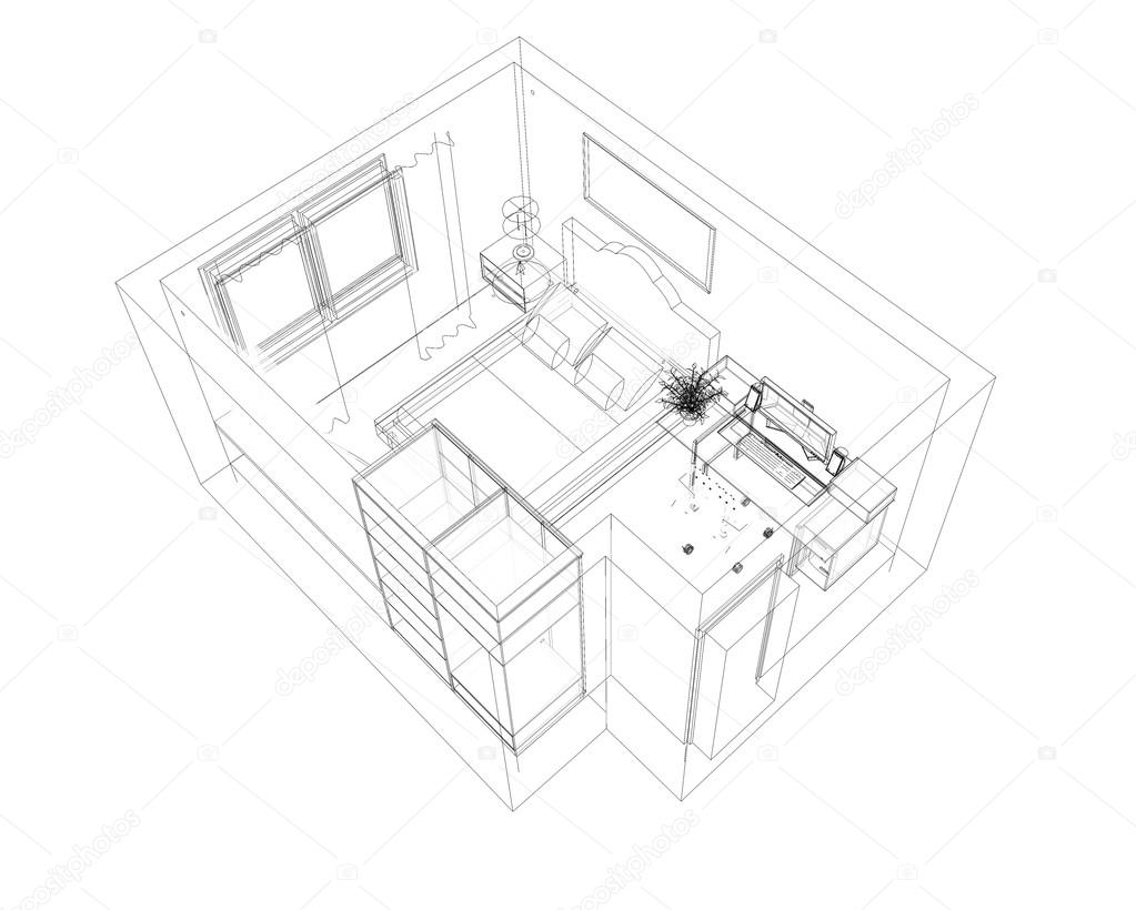 1023x820 Drawings, Sketches The Outline Plans And Interiors Of Buildings