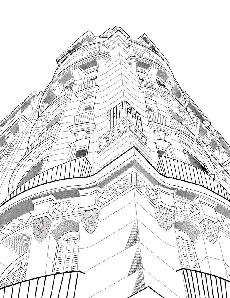 786x1017 Buildings Images Drawings Line Art Drawings