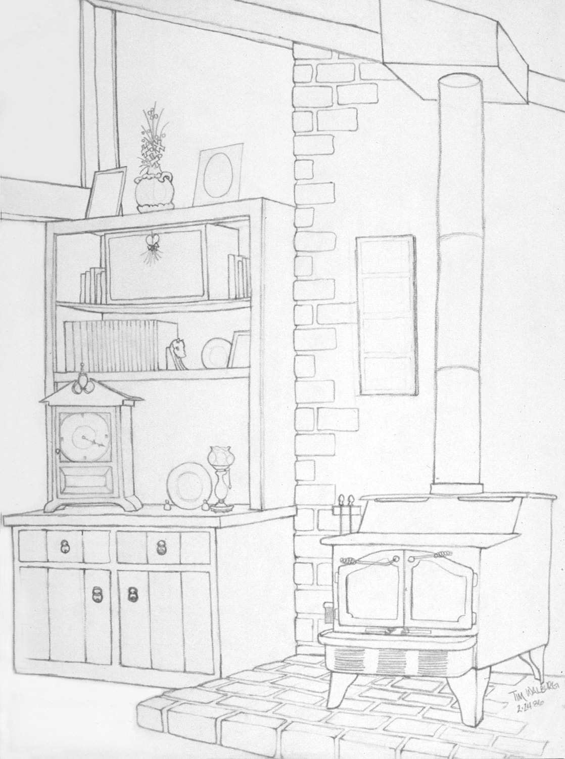 1118x1501 Drawing A Room Or Space Or Building From Direct Observation In 2