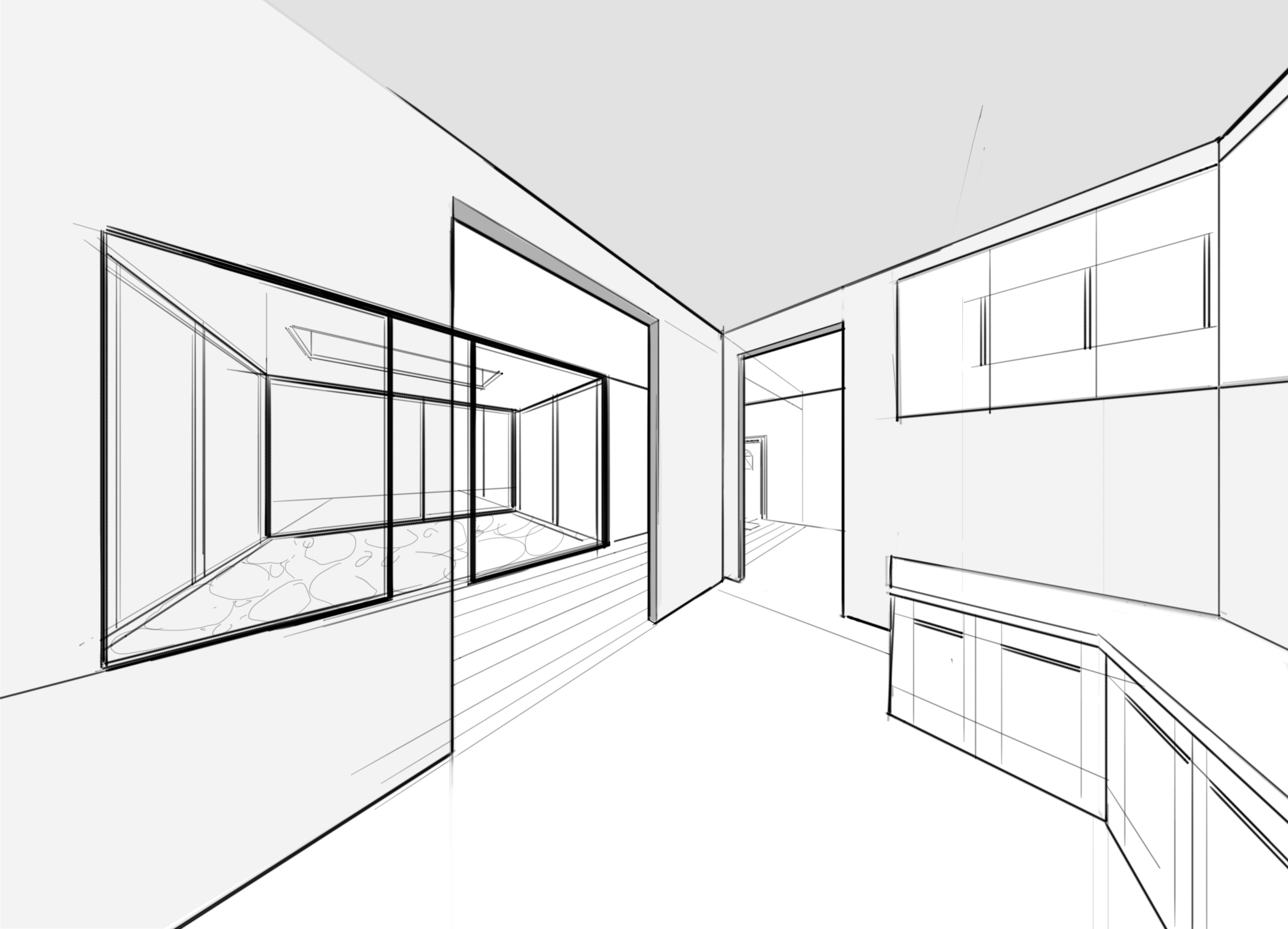 3200x2310 Kitchen Amusing Kitchen Room Drawing Perspective Interior