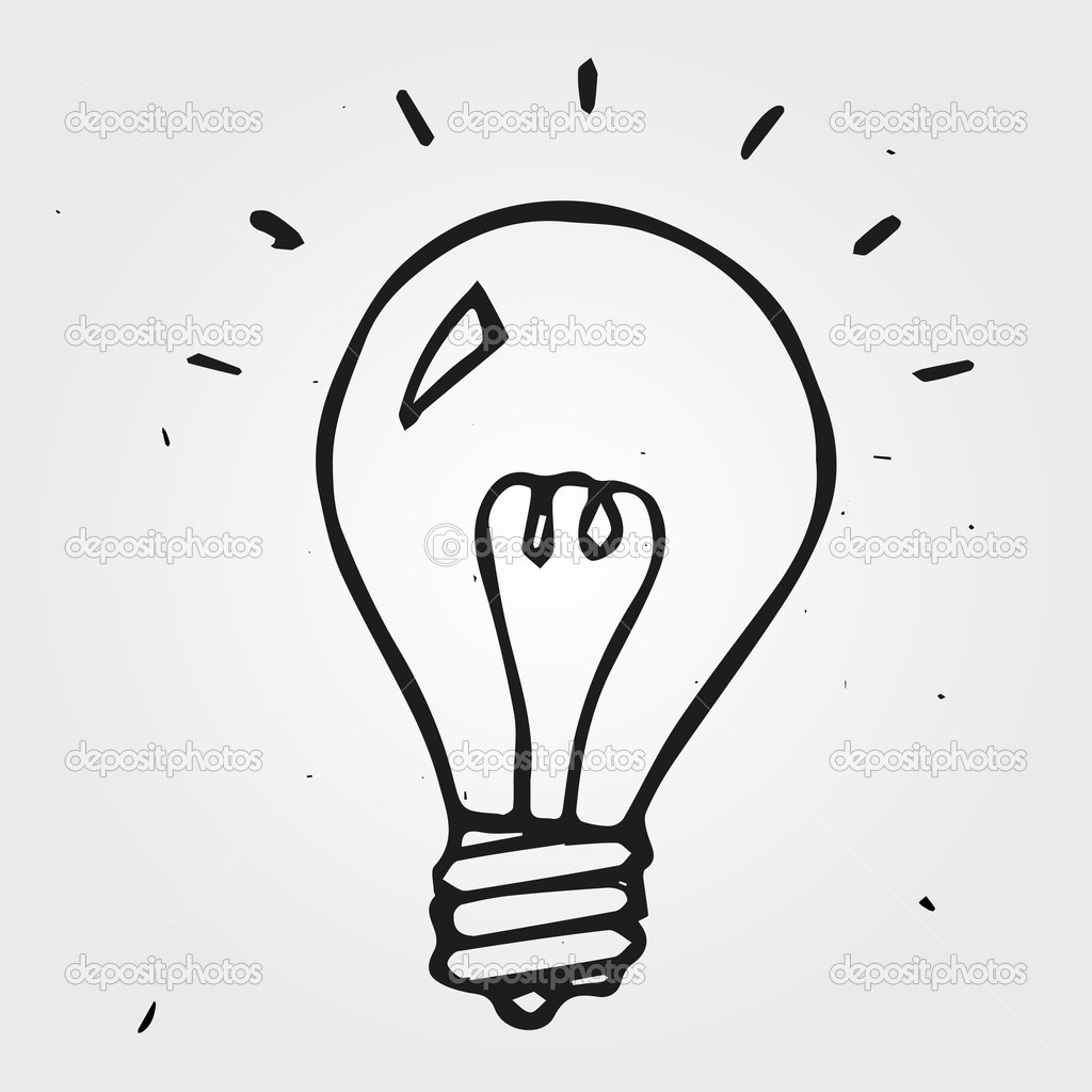 1024x1024 Light Bulb Hand Drawn Vector Turning Two Hand