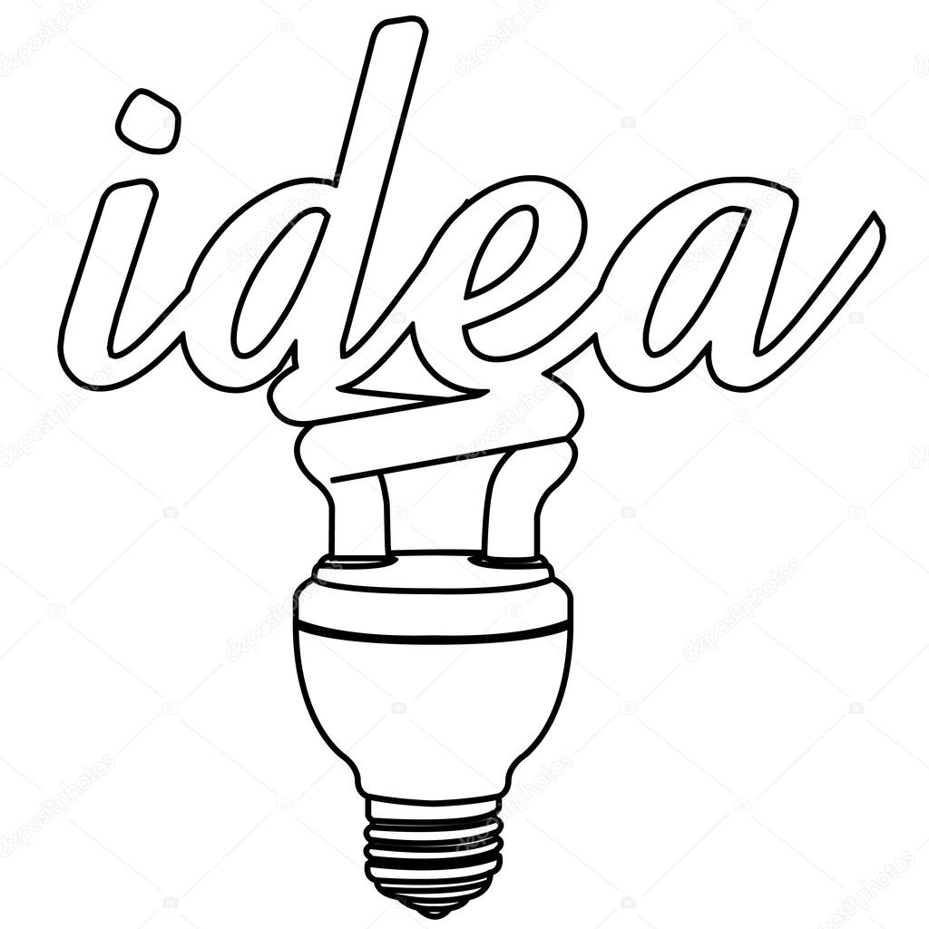 1024x1024 Light Bulb Idea Outline Vector Stock Vector Attaphongw