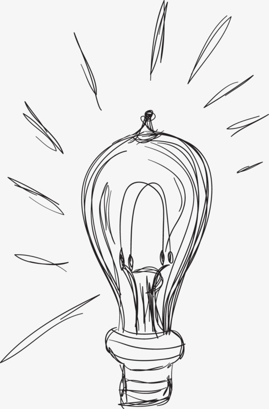 527x800 Pencil Light Bulb, Pencil Drawing, Light Bulb, Creative Png Image
