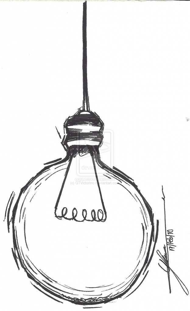 624x1024 Simple Drawing Ideas Simple Light Bulb Drawing Lamps Ideas