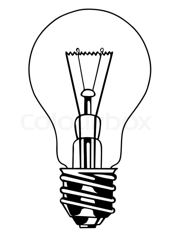 579x800 Vector Light Bulb On White Background Stock Vector Colourbox