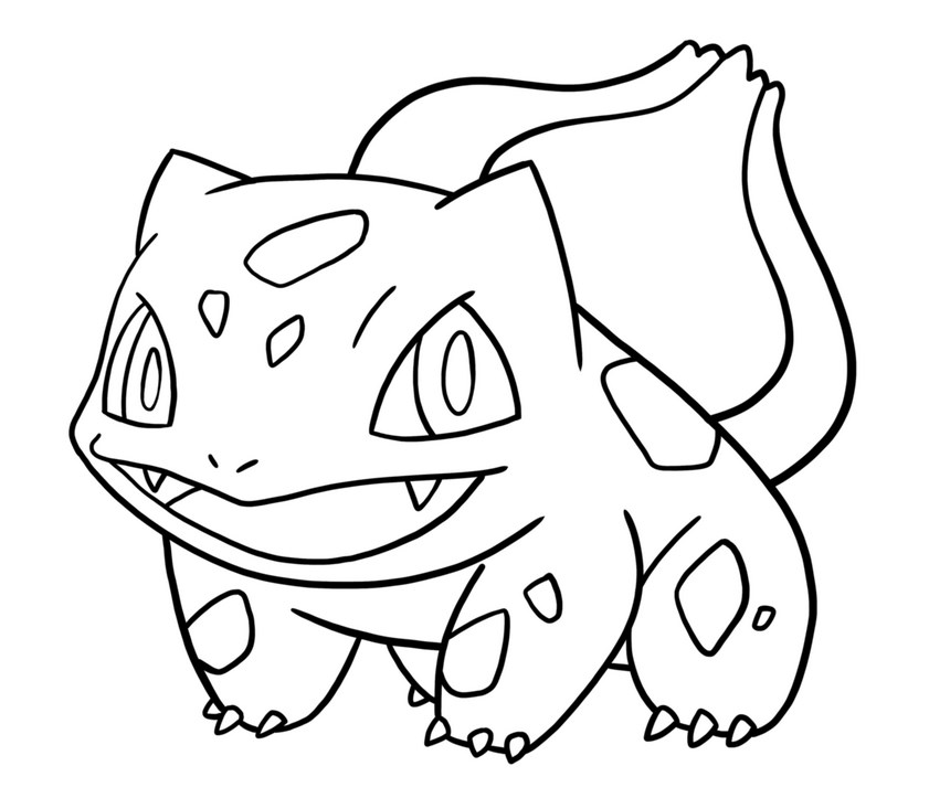 841x723 bulbasaur pokemon coloring page preschool for pretty draw photo - Pokemon Go Coloring Pages