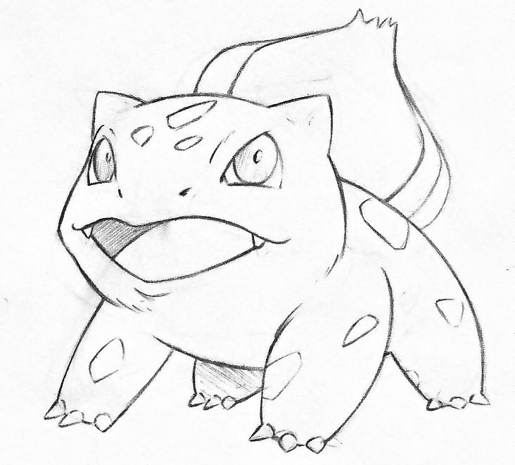 732x661 Bulbasaur Pencil Sketch By Pr Grunge