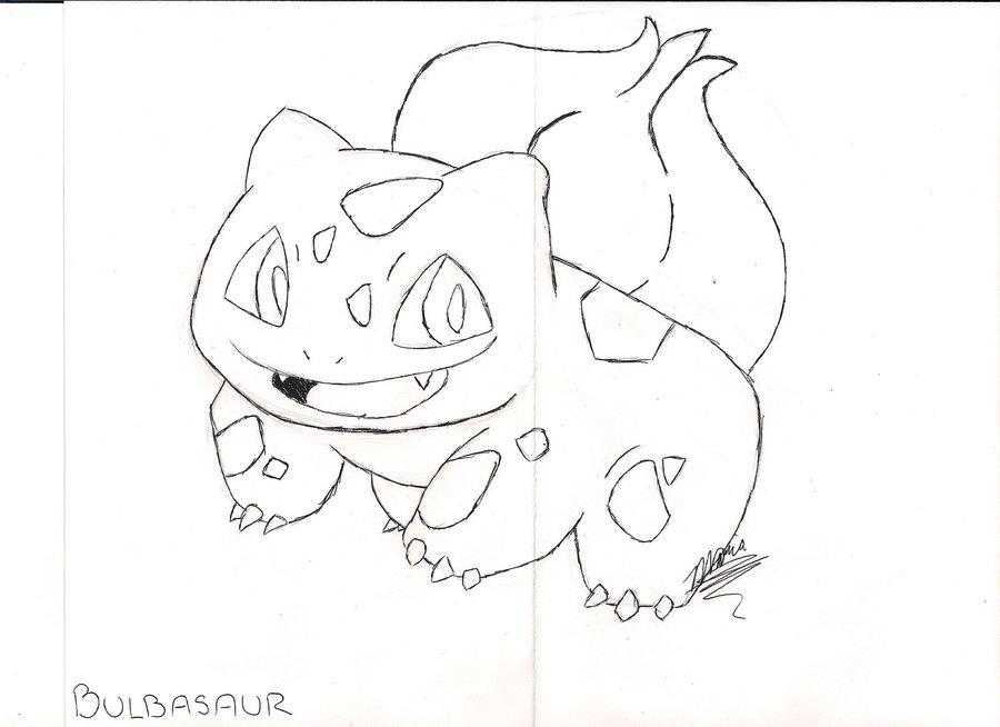 900x654 Draw Every Pokemon Bulbasaur By Happykeyboardmadness