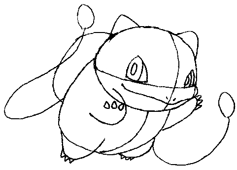 481x345 How To Draw Bulbasaur From Pokemon Step By Step Drawing Tutorial