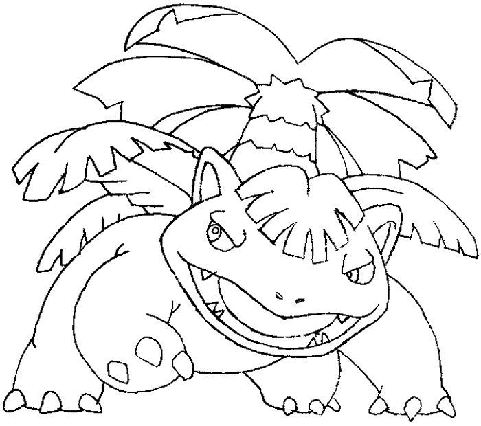 700x620 How To Draw Venusaur From Pokemon Step By Step Drawing Tutorial