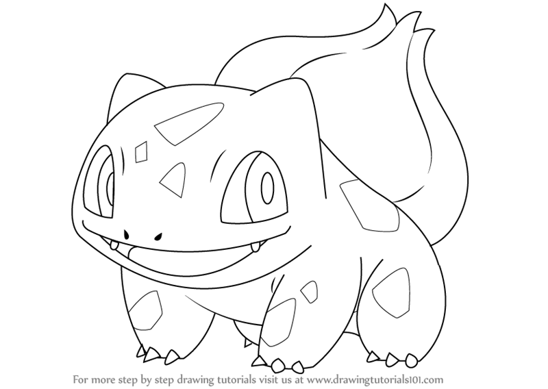 800x568 Learn How To Draw Bulbasaur From Pokemon (Pokemon) Step By Step